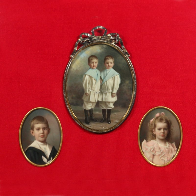 (3pc) MINIATURE PAINTINGS OF CHILDREN - 2