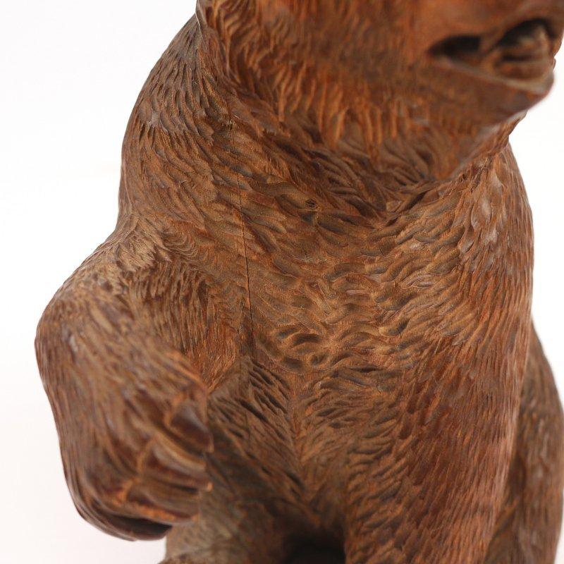 BLACK FOREST CARVED BEAR - 5