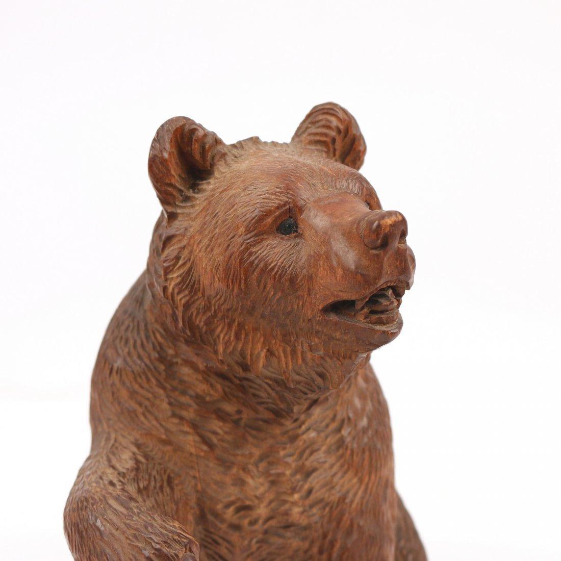 BLACK FOREST CARVED BEAR - 6