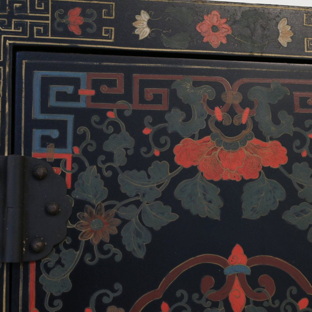 CONTEMPORARY CHINESE POLYCHROME CABINET - 4