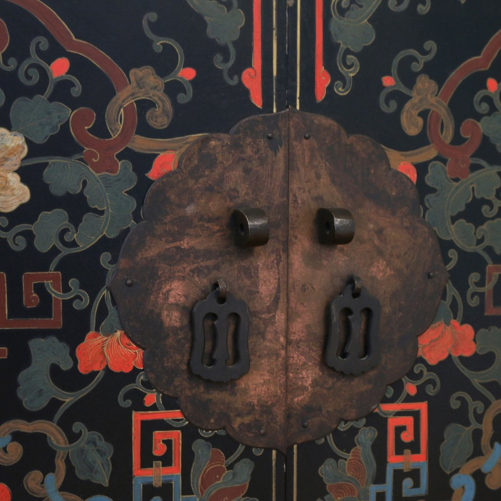 CONTEMPORARY CHINESE POLYCHROME CABINET - 5