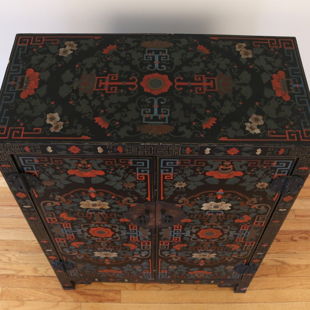CONTEMPORARY CHINESE POLYCHROME CABINET - 7