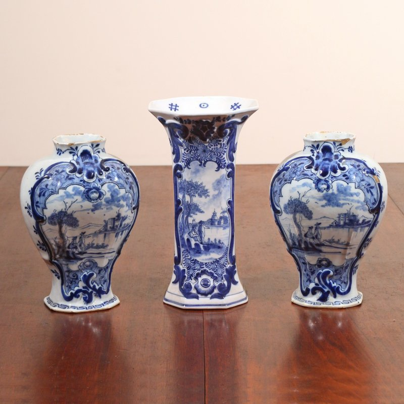 (3pc) DELFT TIN GLAZED CERAMICS