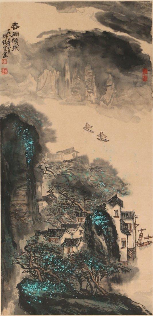 (2pc) HU XUWEN (Chinese, 1960-) HANGING SCROLLS - 3