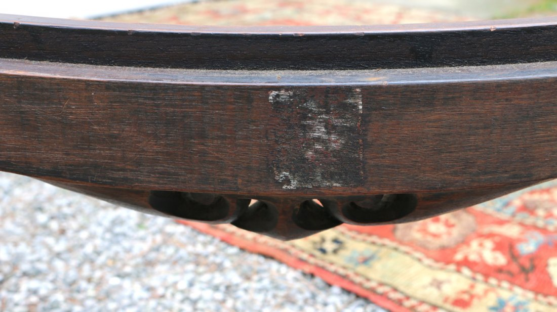FINE CHIPPENDALE-STYLE CARVED NEEDLEPOINT STOOL - 8