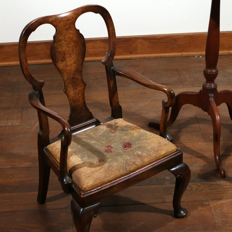 (3pc) TWO CHILD'S CHAIRS & CANDLESTAND - 2