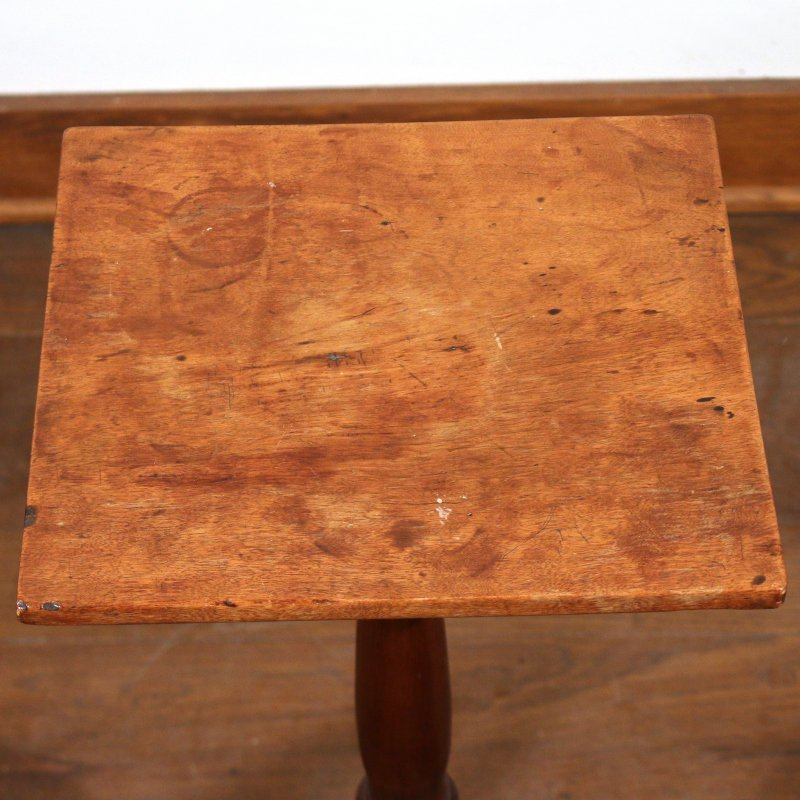 (3pc) TWO CHILD'S CHAIRS & CANDLESTAND - 3