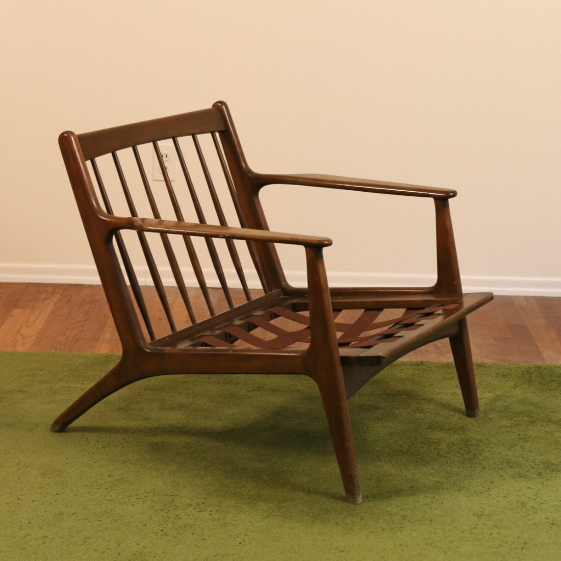 DANISH WALNUT LOUNGE CHAIR - 2