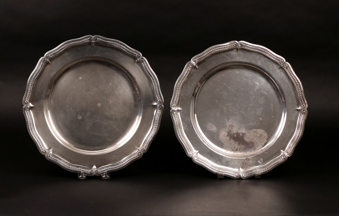 PAIR STERLING TIFFANY & Co. PLATTERS