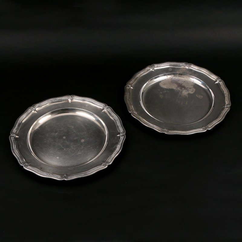 PAIR STERLING TIFFANY & Co. PLATTERS - 2