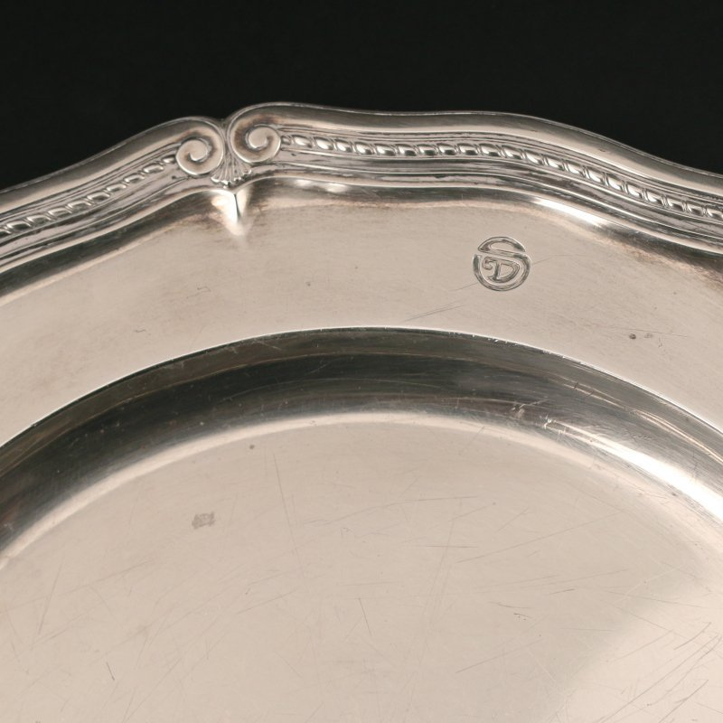 PAIR STERLING TIFFANY & Co. PLATTERS - 3
