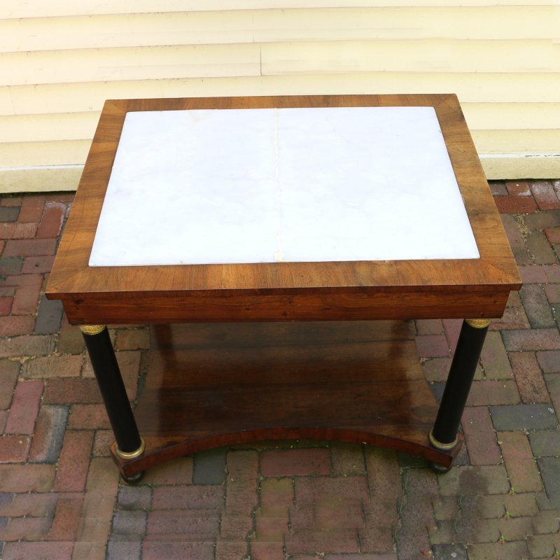 LOUIS PHILIPPE INLAID SIDE TABLE - 2