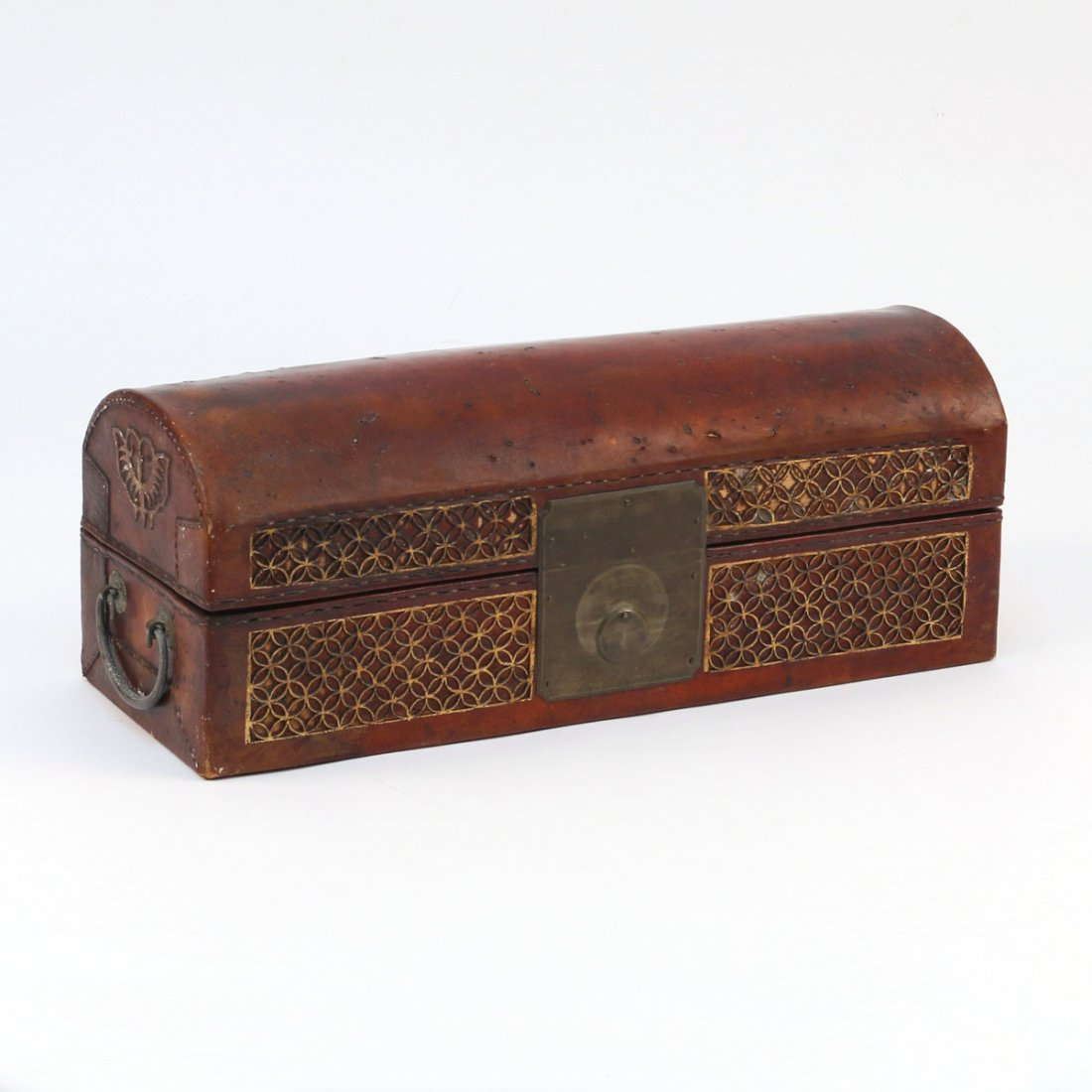 CHINESE LEATHER BOX - 2