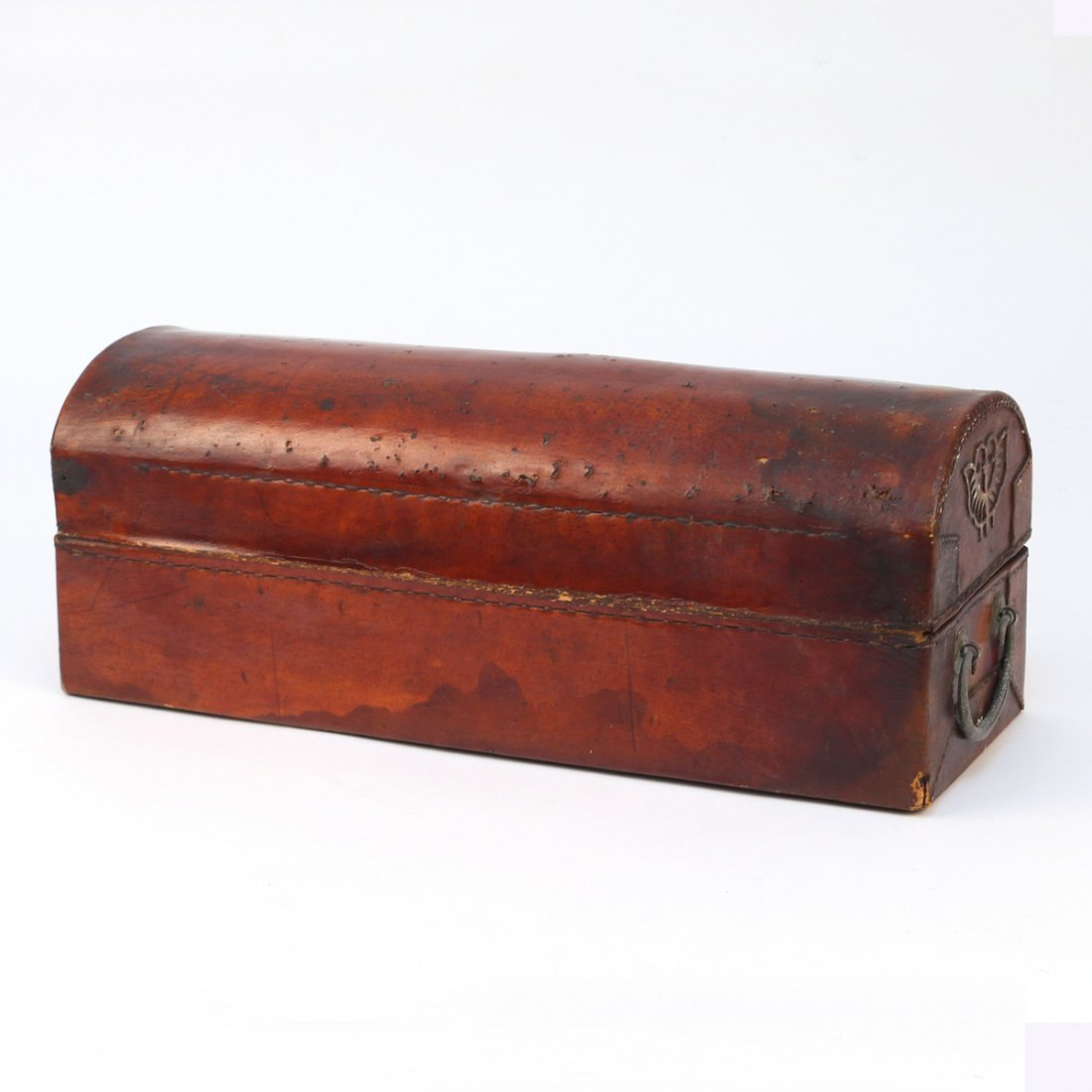 CHINESE LEATHER BOX - 4