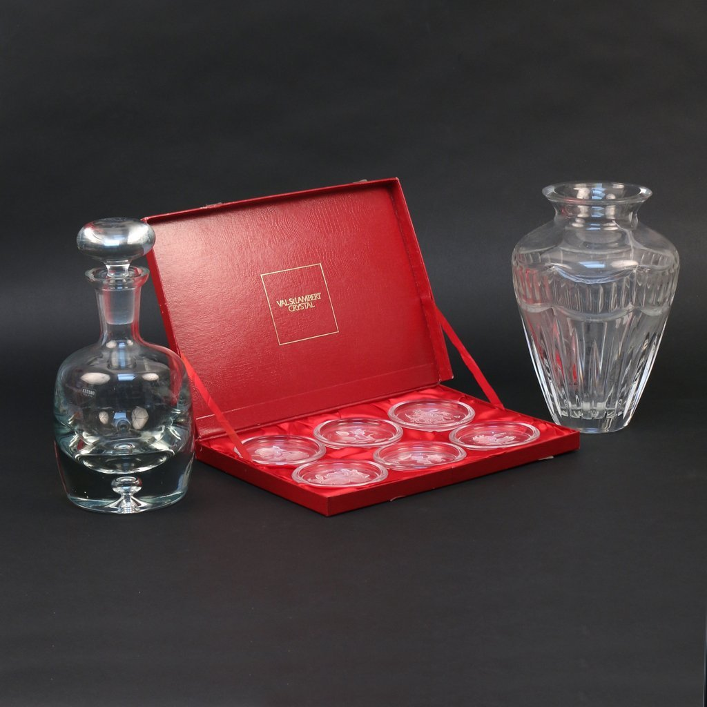 (3pc) MISC. CUT GLASS LOT