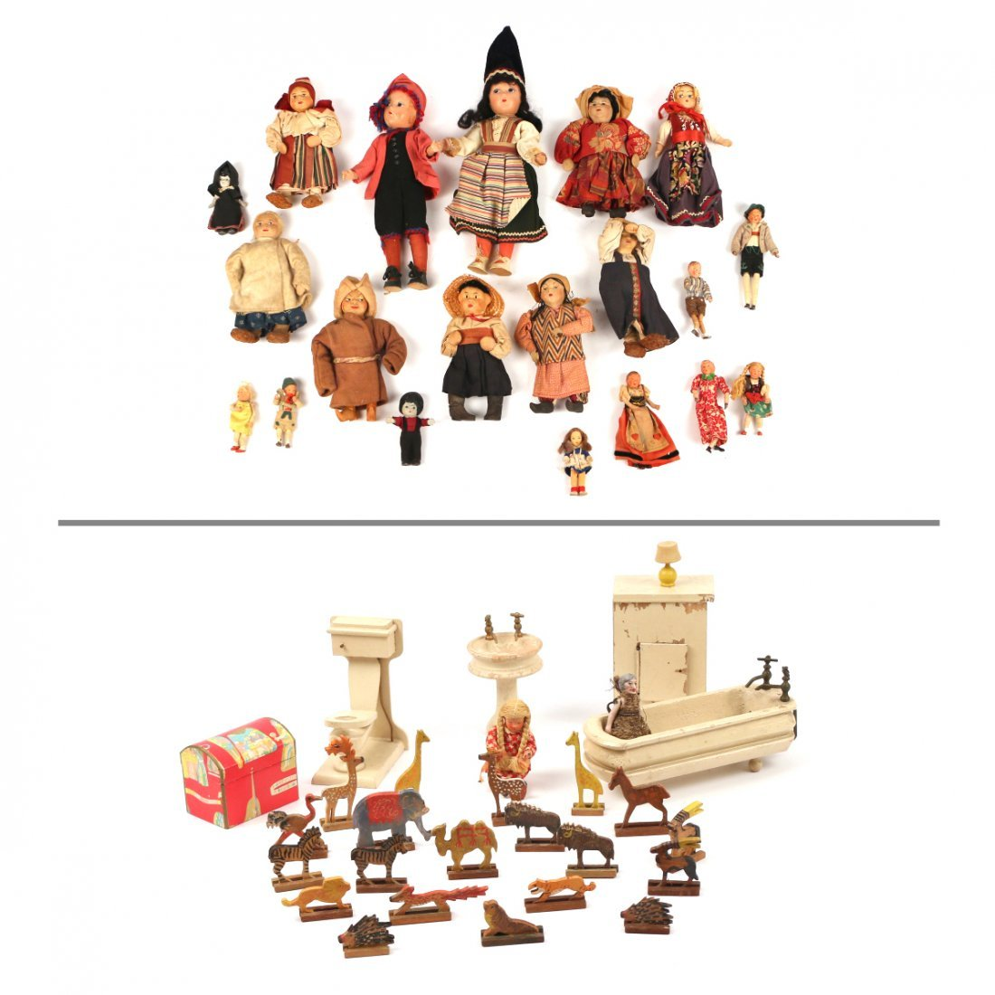 (20pc) RUSSIAN AND OTHER DOLLS