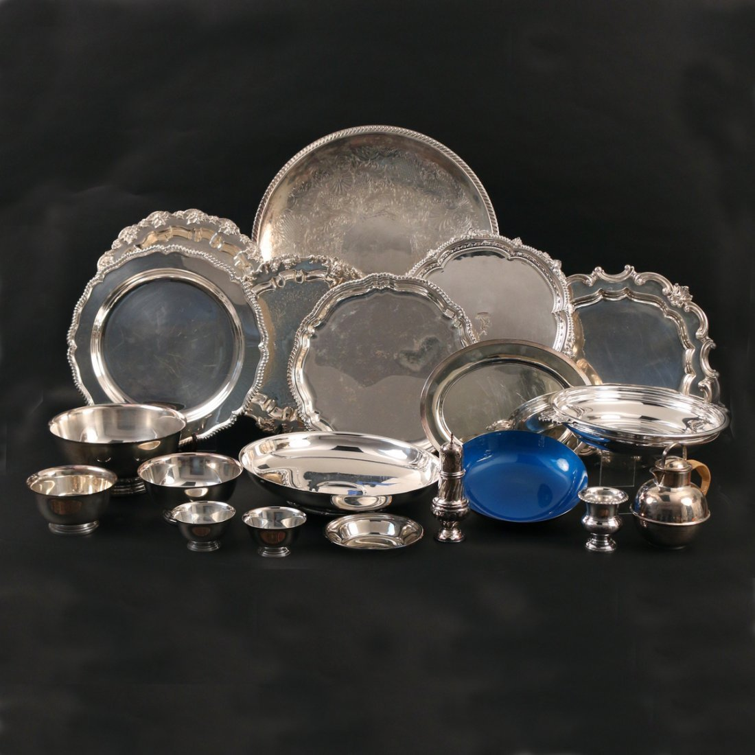 (20pc) MISC. SILVER-PLATED HOLLOWARE