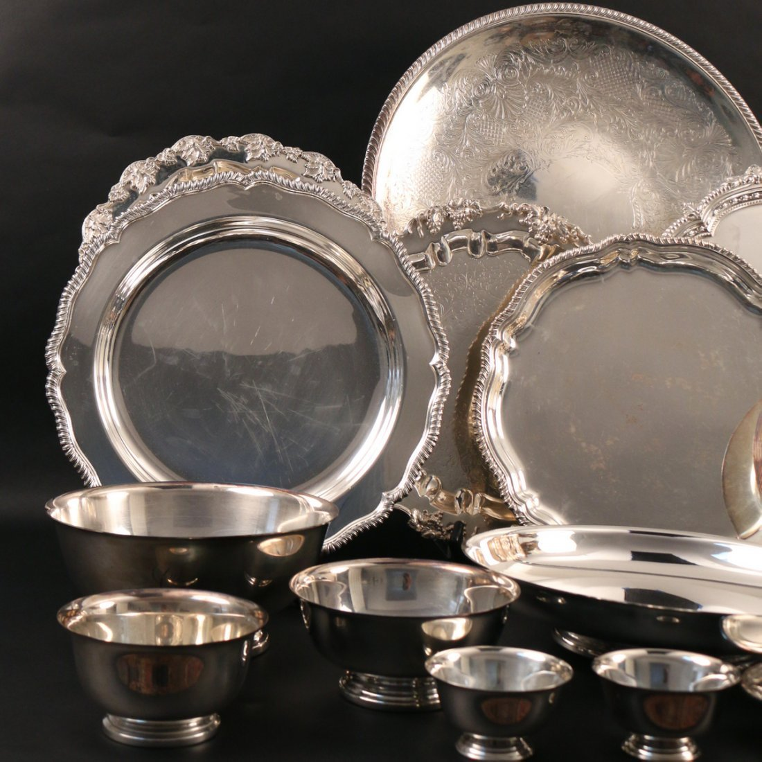 (20pc) MISC. SILVER-PLATED HOLLOWARE - 2