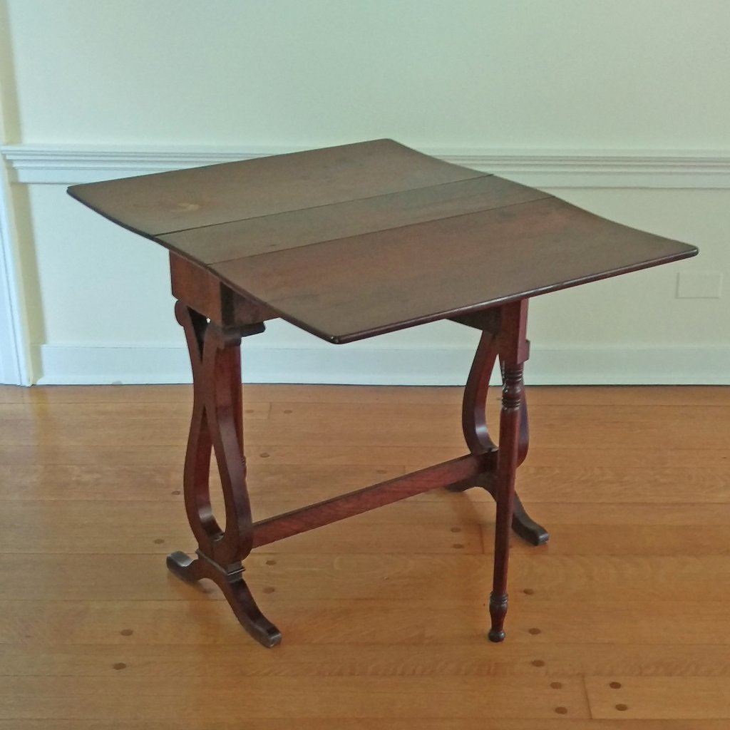 MAHOGANY TUCKAWAY TABLE - 2