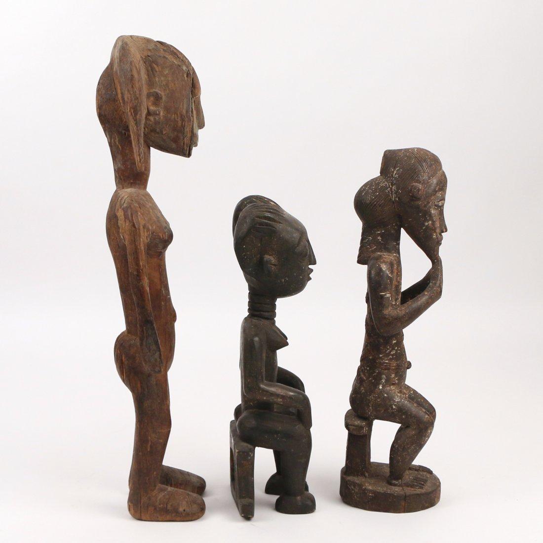 (3pc) AFRICAN ANTIQUE WOODEN SCULPTURE - 2