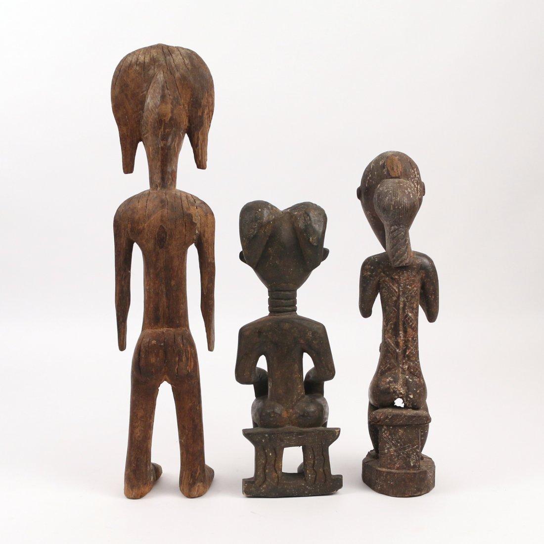 (3pc) AFRICAN ANTIQUE WOODEN SCULPTURE - 3