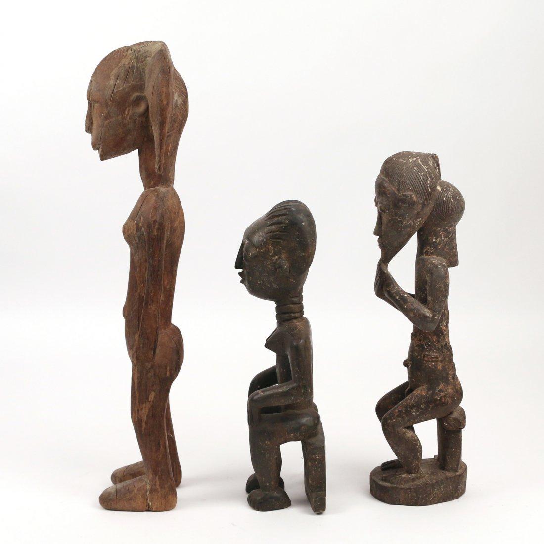 (3pc) AFRICAN ANTIQUE WOODEN SCULPTURE - 4