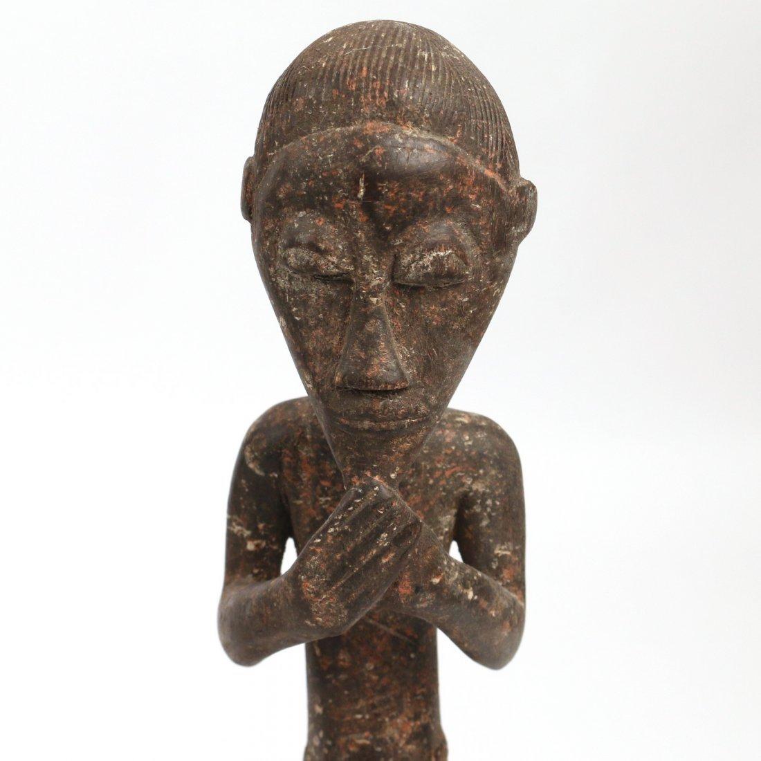 (3pc) AFRICAN ANTIQUE WOODEN SCULPTURE - 5
