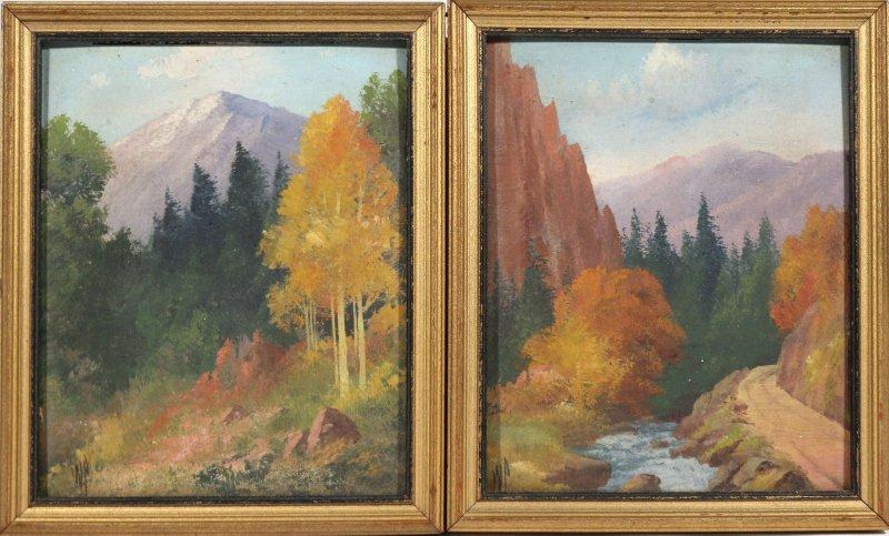 (2pc) WILLARD J. PAGE (American, 1885-1958)