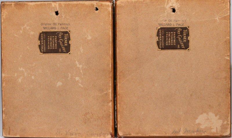 (2pc) WILLARD J. PAGE (American, 1885-1958) - 4