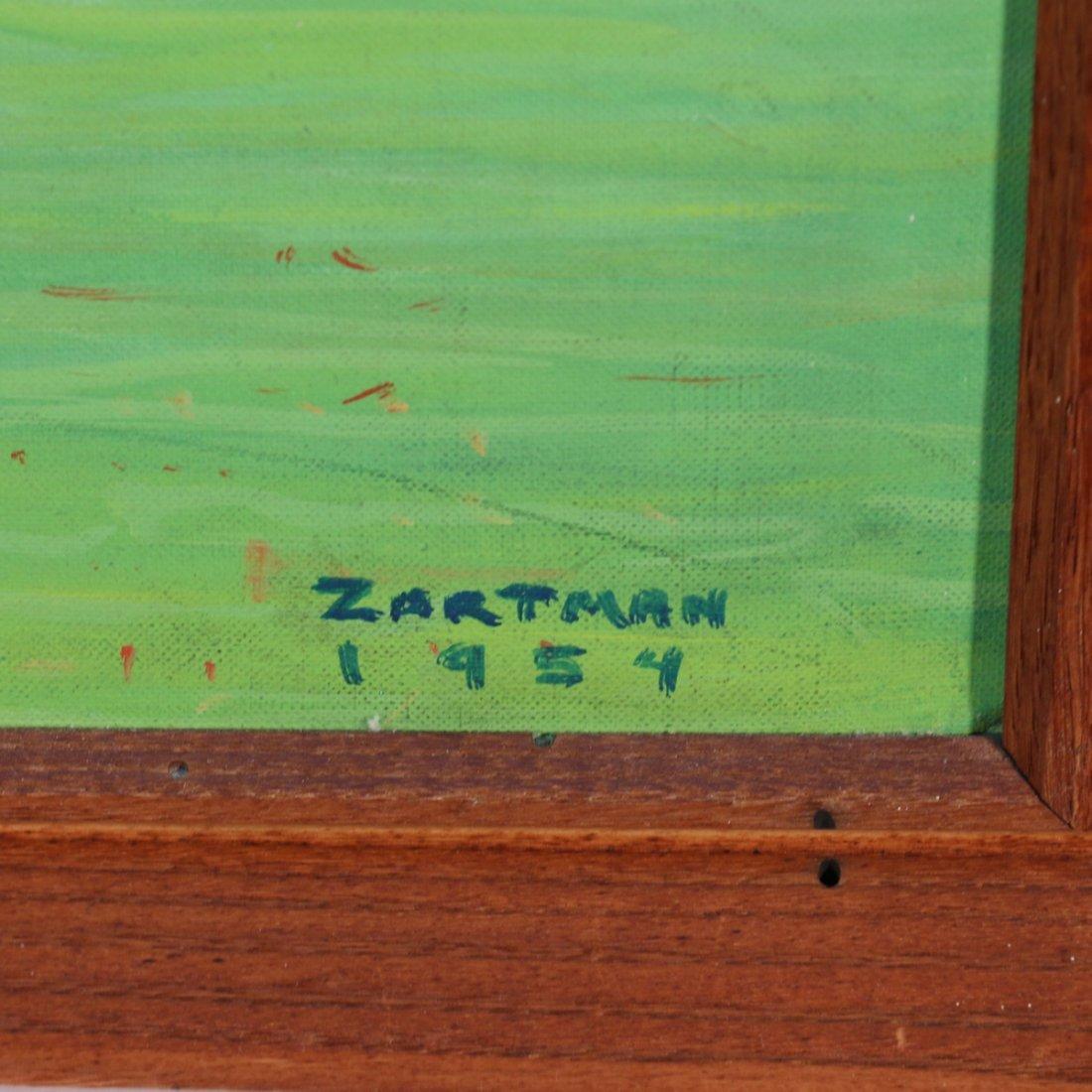 (2pc) ZARTMAN AMISH PRIMITIVE PAINTINGS - 4