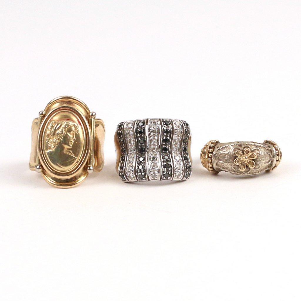 (3pc) 14k GOLD RINGS