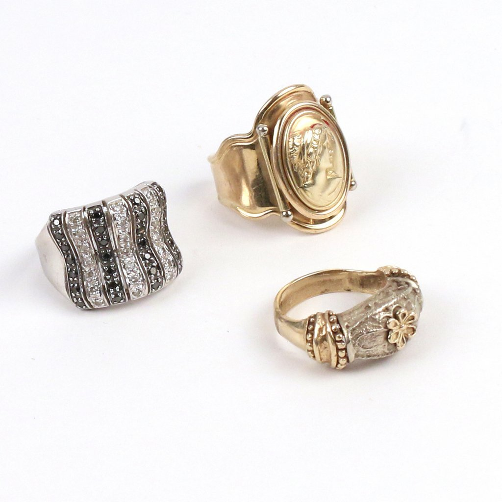 (3pc) 14k GOLD RINGS - 2