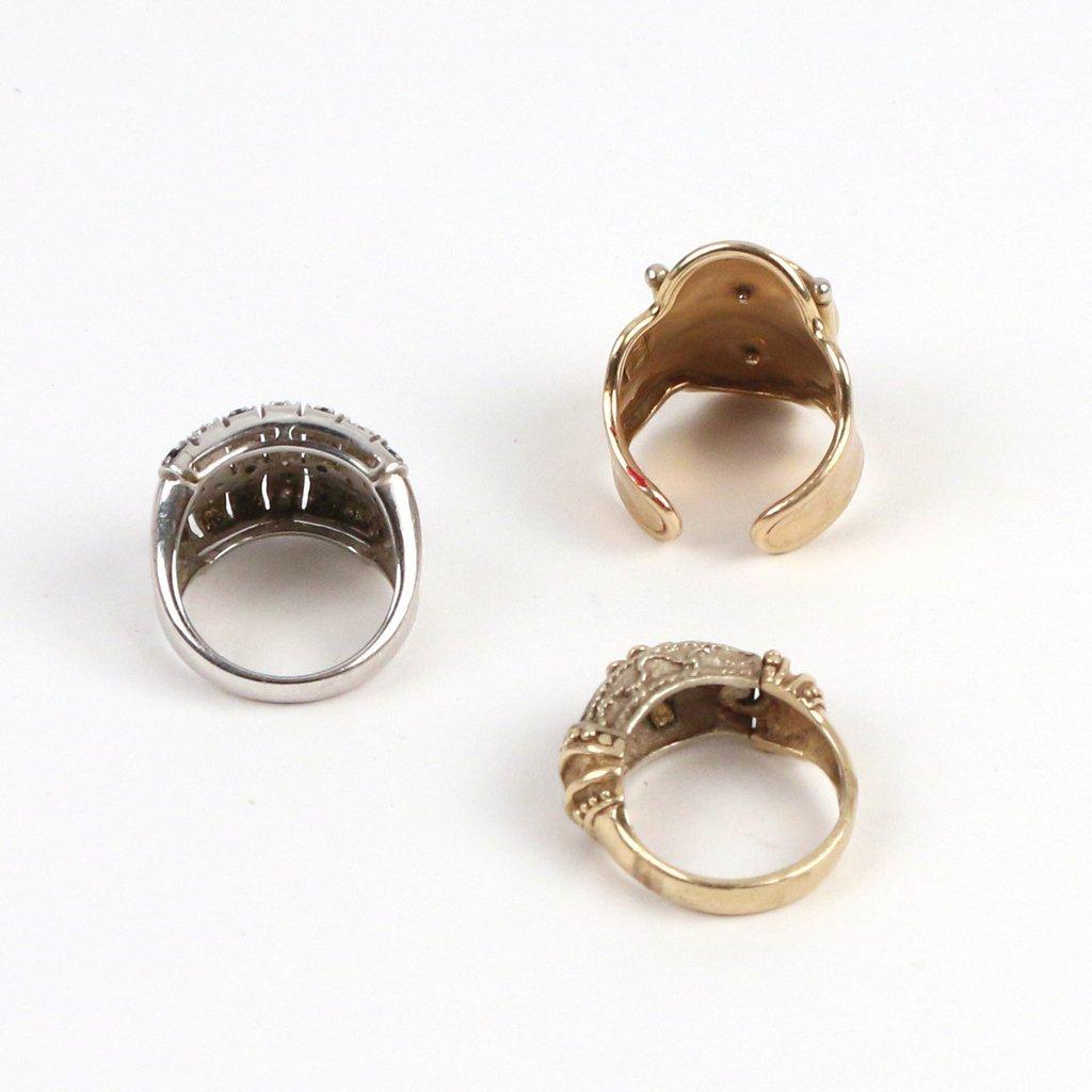 (3pc) 14k GOLD RINGS - 3