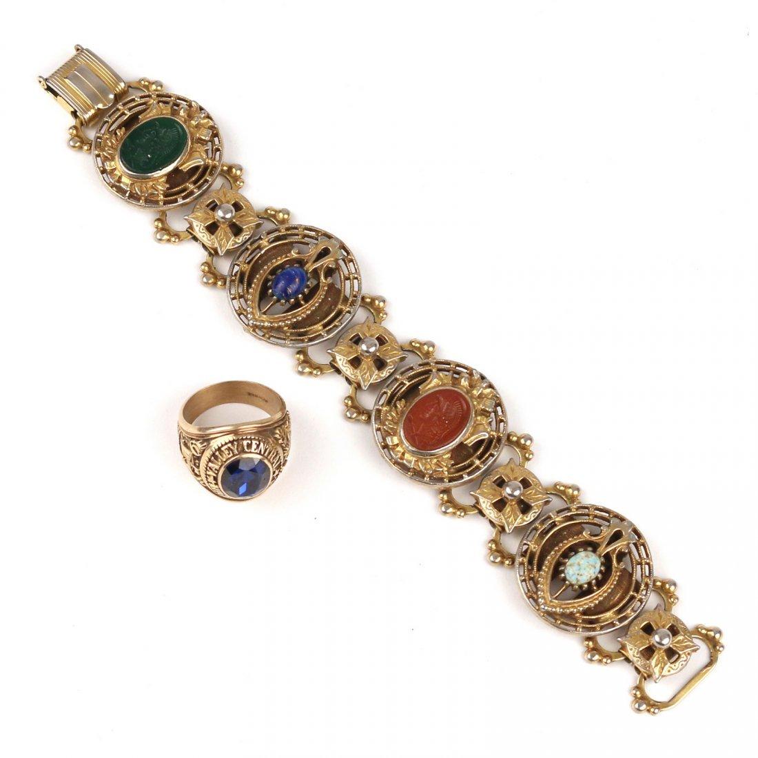 (2pc) SCOTTISH LINK BRACELET & RING