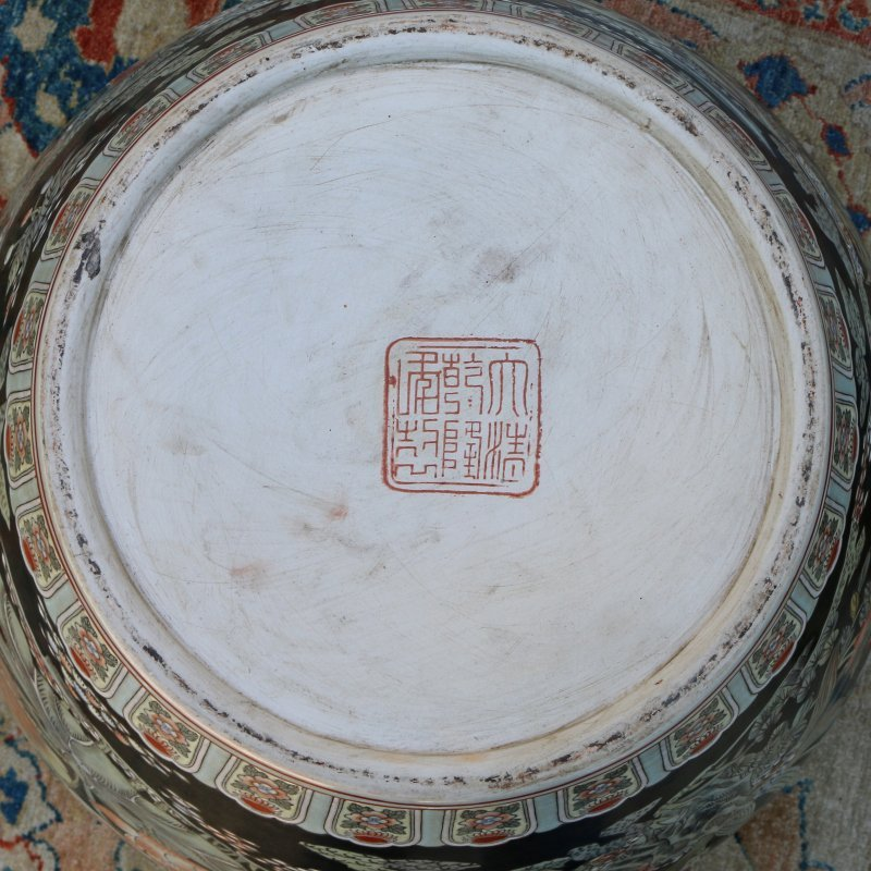 MONUMENTAL CHINESE EXPORT FISH BOWL - 7