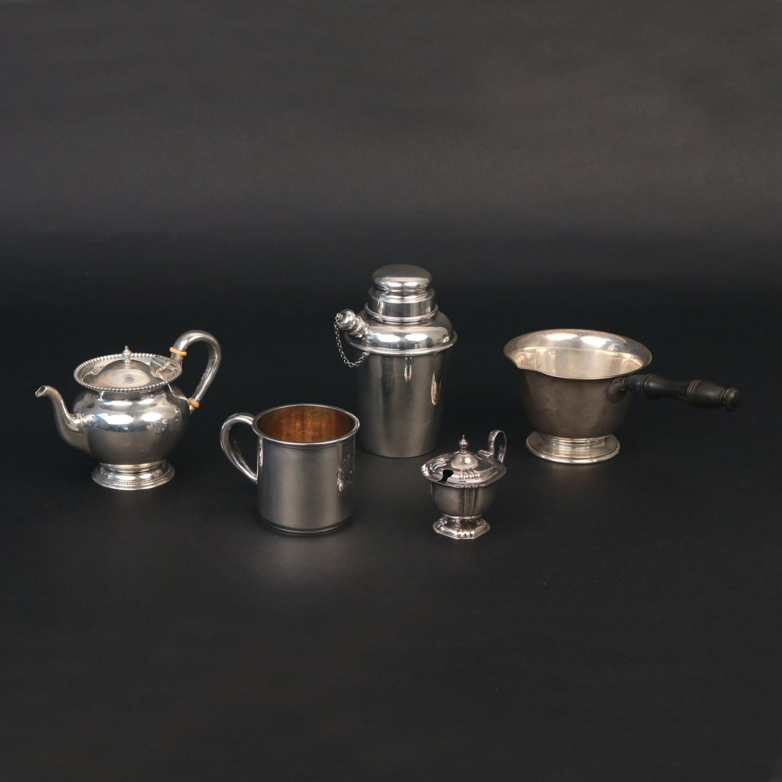 (5pc) MISC. STERLING SILVER HOLLOWARE