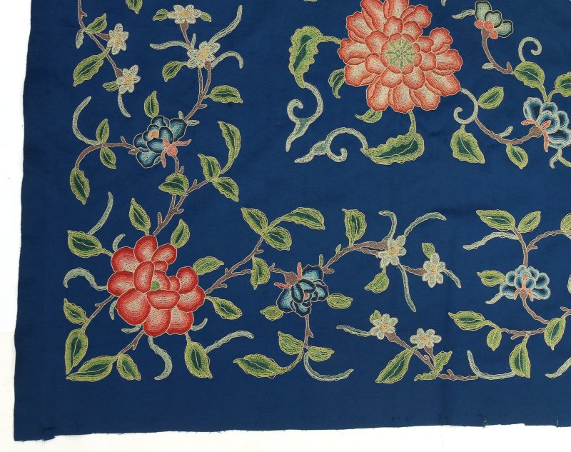 LARGE CHINESE CREWEL-WORK EMBROIDERY - 2