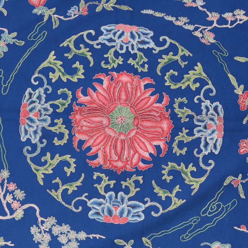 LARGE CHINESE CREWEL-WORK EMBROIDERY - 4