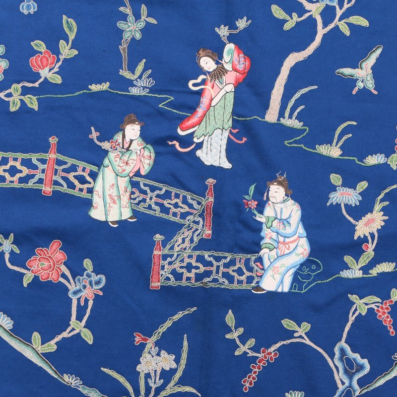 LARGE CHINESE CREWEL-WORK EMBROIDERY - 5