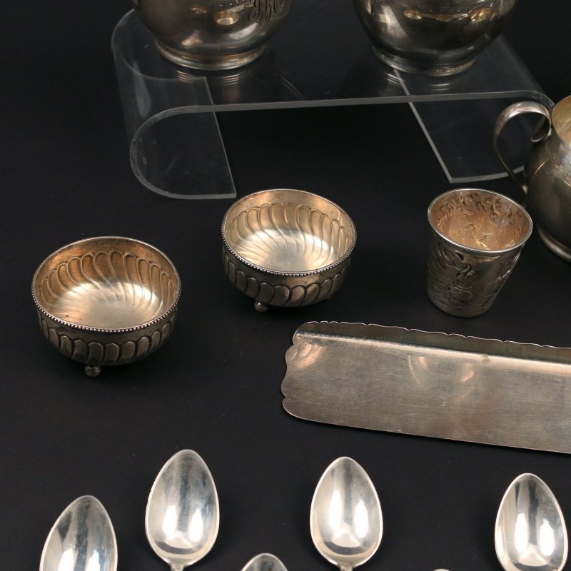 (26pc) SILVER & OTHER FLATWARE & HOLLOWARE - 3