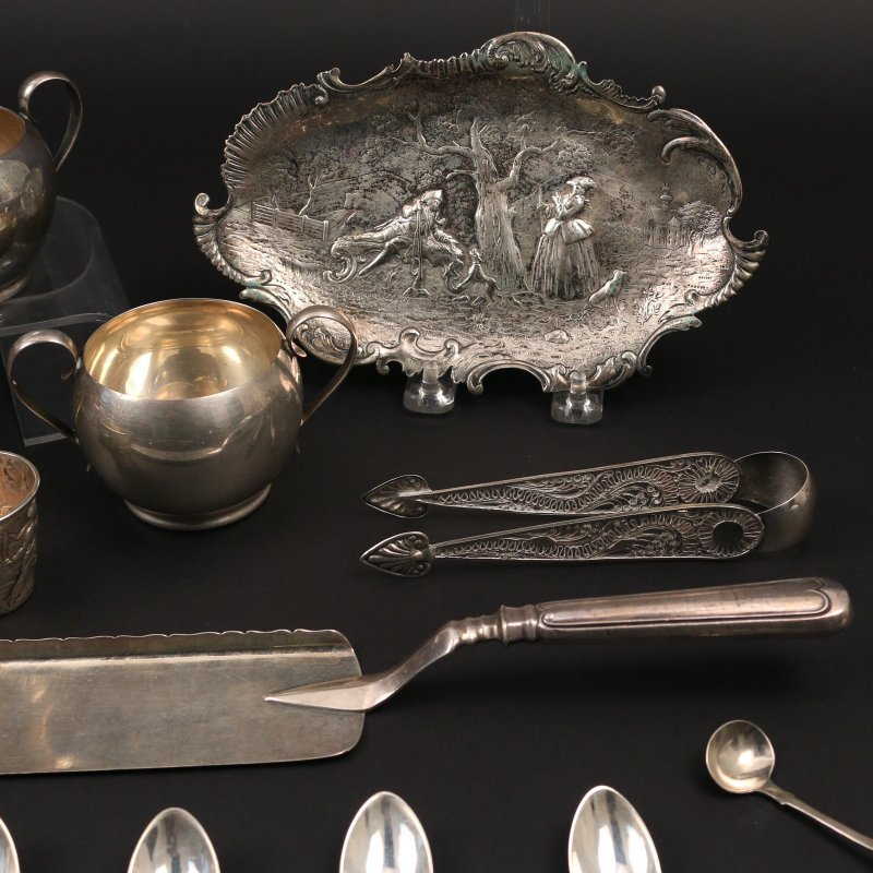 (26pc) SILVER & OTHER FLATWARE & HOLLOWARE - 5