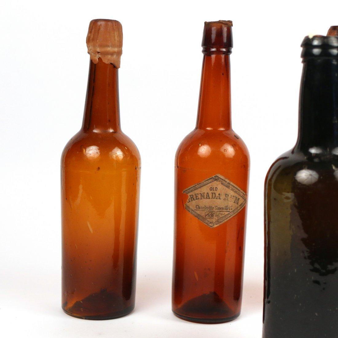 (5pc) ANTIQUE GLASS BOTTLES - 2