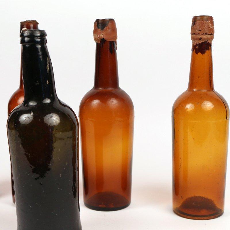 (5pc) ANTIQUE GLASS BOTTLES - 3