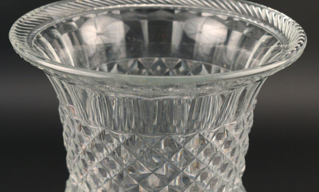 MONUMENTAL CUT GLASS CAMPANA-FORM VASE - 4