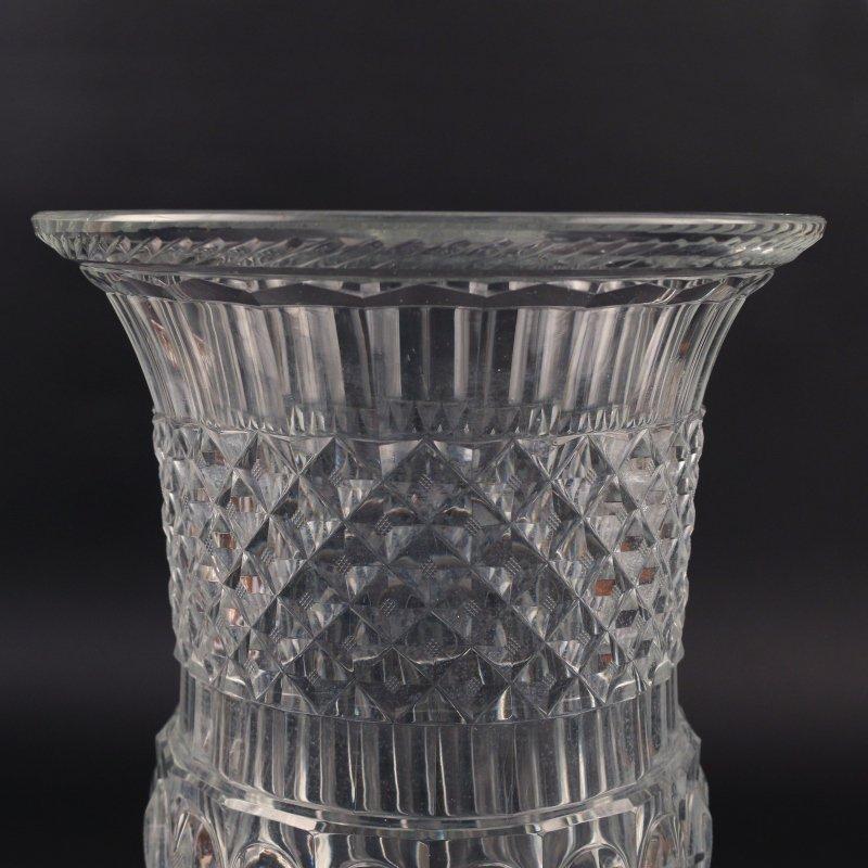 MONUMENTAL CUT GLASS CAMPANA-FORM VASE - 5
