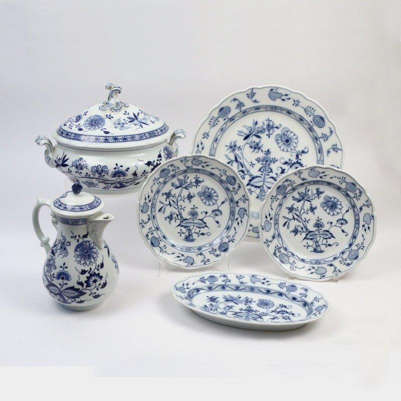 (6pc) MEISSEN & HUTSCHENREUTHER CHINA