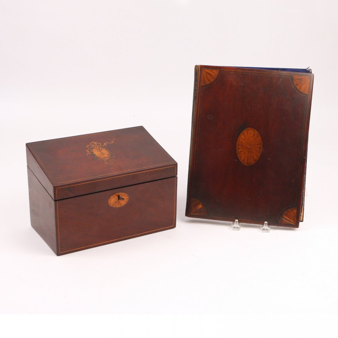 (8pc) VARIOUS INLAID WOODEN BOXES - 3