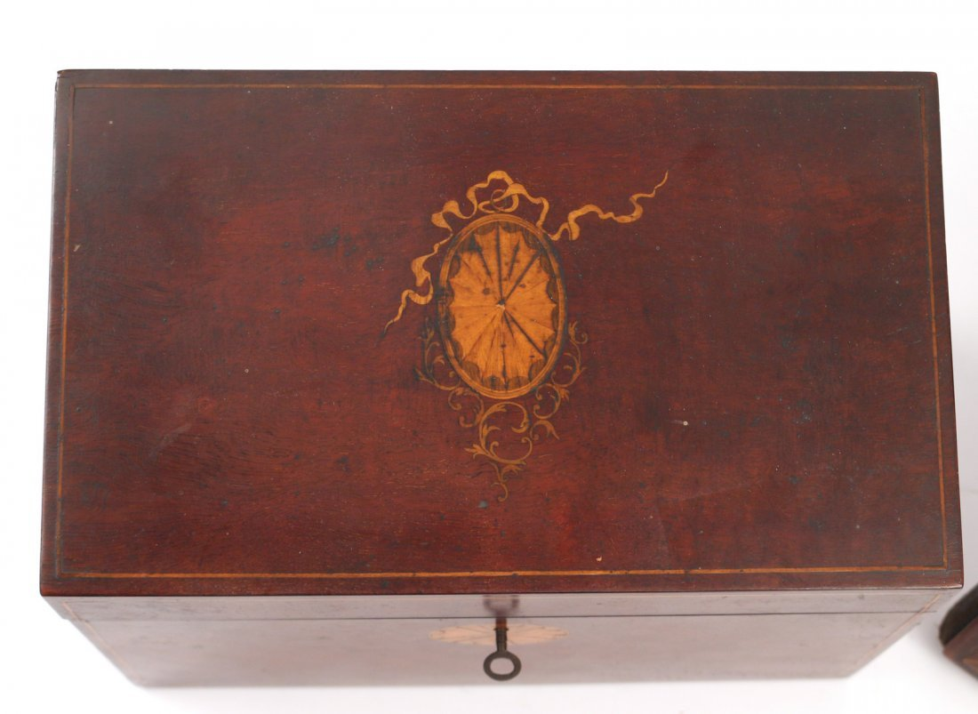(8pc) VARIOUS INLAID WOODEN BOXES - 4