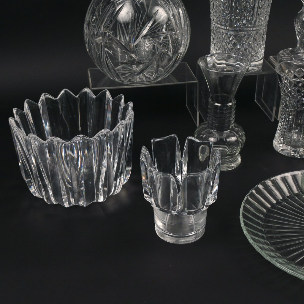 (11pc) MISC. CRYSTAL AND GLASS - 2