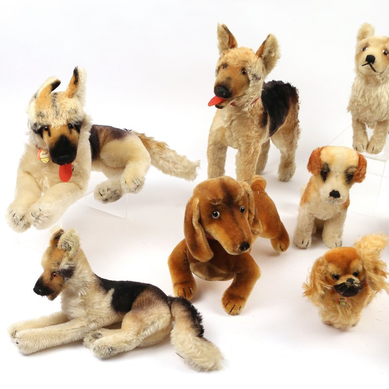 (10pc) STEIFF STUFFED DOGS - 2